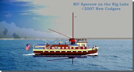 Sparrow on Big Lake 23 Nov ©2007 New Codgers