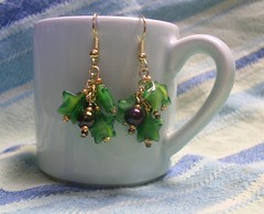 Green Star Chain Dangles