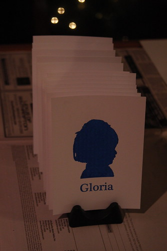 Gloria Cards Drying