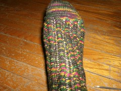 Cosmic Ripples Sock - Close up