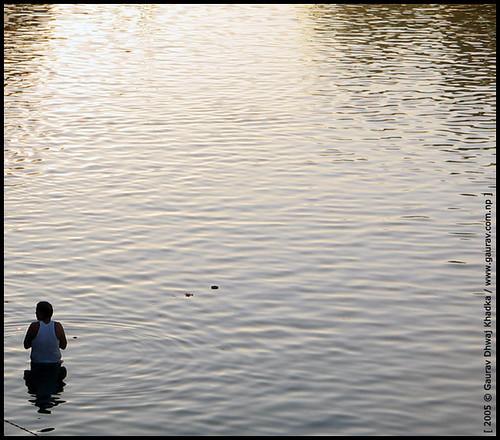 About to take a dip… by Gaurav Dhwaj Khadka