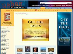 Urban Dictionary.com with Scientology Ads