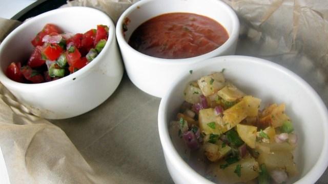 salsa trio at bad dog taqueria