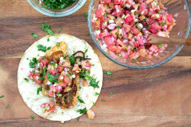 whitefish tacos with rhubarb salsa (via When Harry Met Salad) | Mad ...
