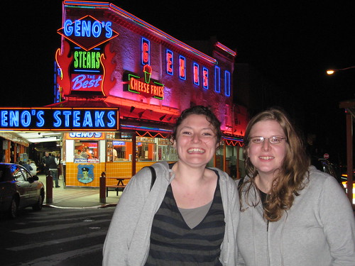 Geno's, the much flashier inventor(?) of the Philly cheesesteak