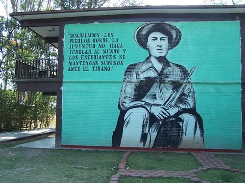 Mural inspirado en Lucio Cabañas