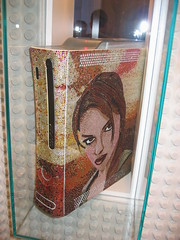 Xbox 360 Case Mod - mosaic Tomb Raider Legend case
