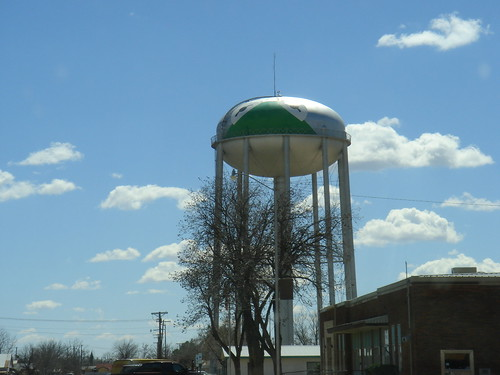 Kermit on the water tower in...Kermit