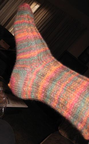 Slip-stitch sock 2