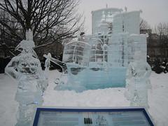 Québec 400th anniversary ice scultpure