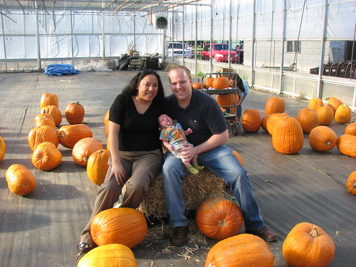 Us among the pumpkins