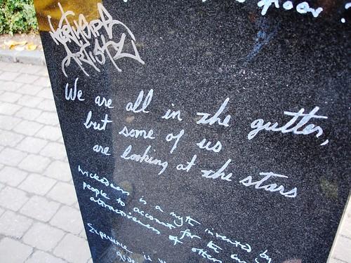Wildes-ian & not so Wildes-ian graffiti.