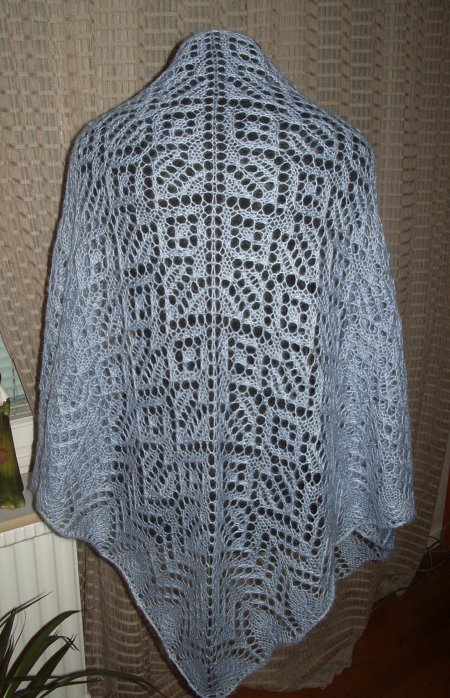 Heartland Lace Shawl in blue