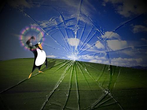 tux break windows
