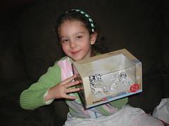 Lydia w/ Christmas gift