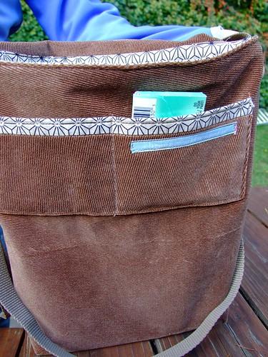 """""""temari"""" messenger bag interior"""