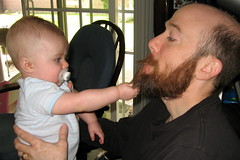 Emerson liked Todds beard almost as much as Dads ear.