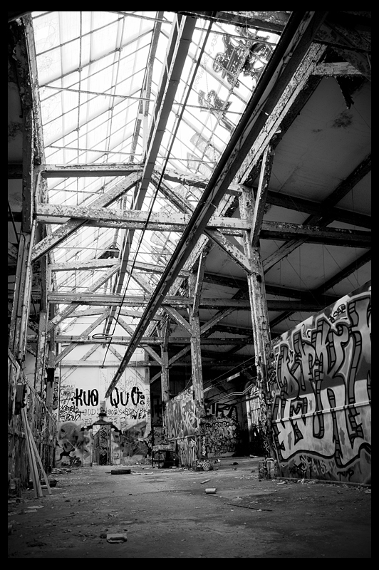Reichsbahnausbesserungswerk RAW urbex urban exploration decay abandoned Berlin infiltration