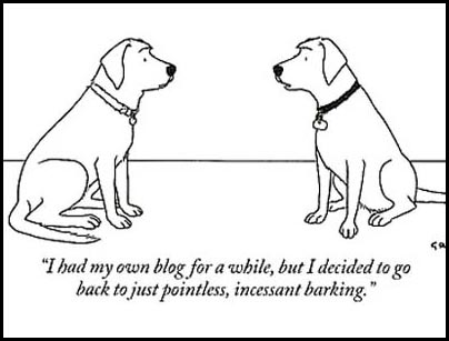blogging has gone to the dogs