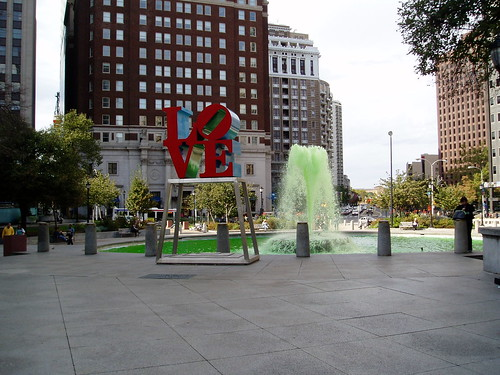Green in Love Park