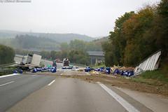 Gefahrgutunfall A3 bei Idstein 12.10.07