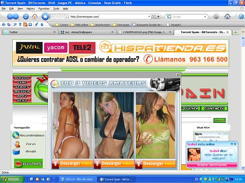 Screenshot de Torrent Spain