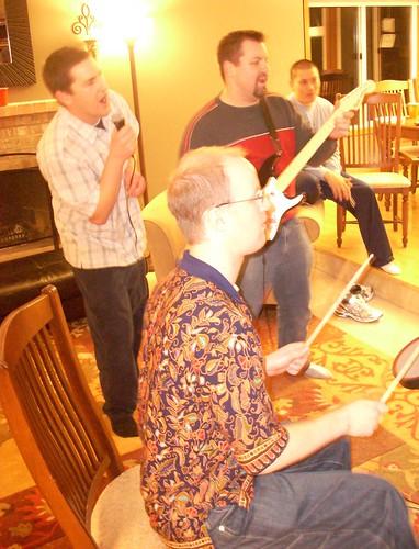 Dan so totally rocks on the drums yo!
