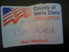 Election official name tag
