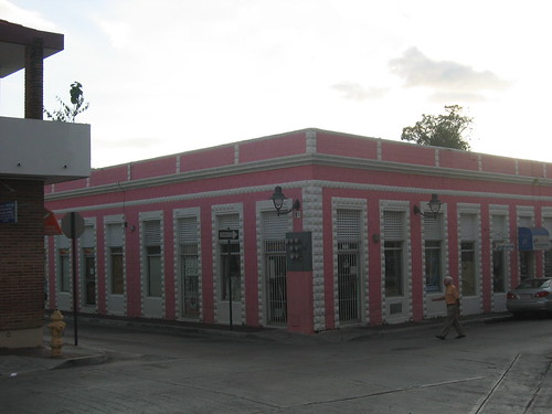 A pink, birthday cake-like building, Cabo Rojo