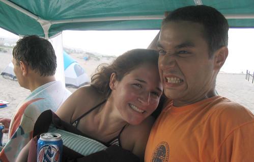 20070802-05 - Assateague Island beach camping - Summer, R.J. - funny face (by Christian) - 1120629685_1c05902c2f o