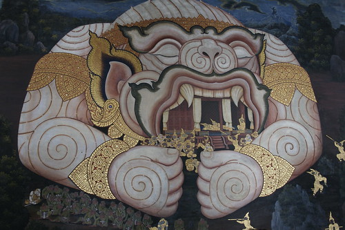 demon protecting the temple of the emerald buddha