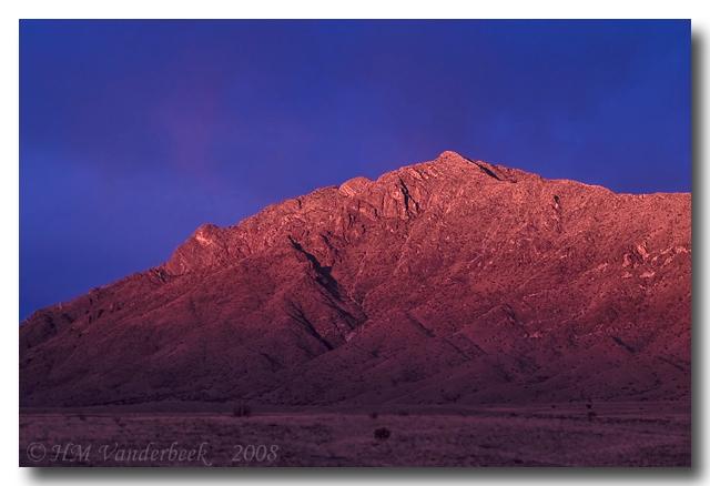 Sandia Mountain at Sunset