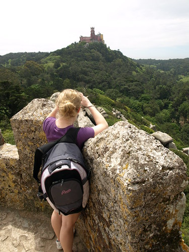 looking at Pena Palace, from the Moorish Castle
