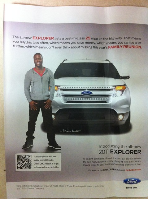 Ford Explorer QR code campaign