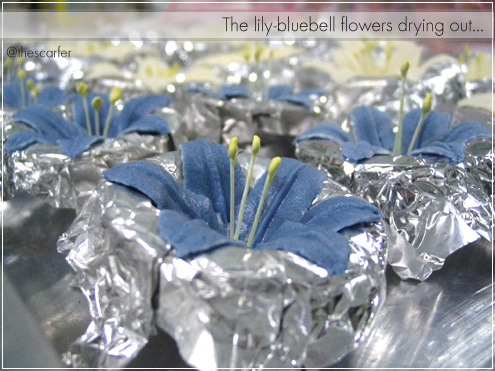 The lily-bluebell flowers drying out...