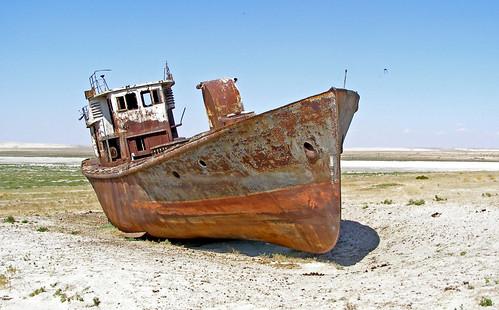 Aral Sea (Kazakhstan) - Naval Cemetery by Danielzolli.