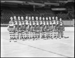 Bruins team on the ice, Boston Garden