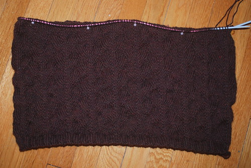 Hubby Sweater slow progress