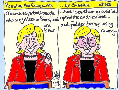 Hillary making a speech