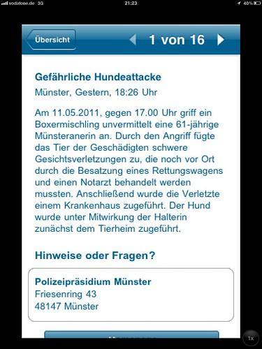 Pressemitteilung der Polizei Münster