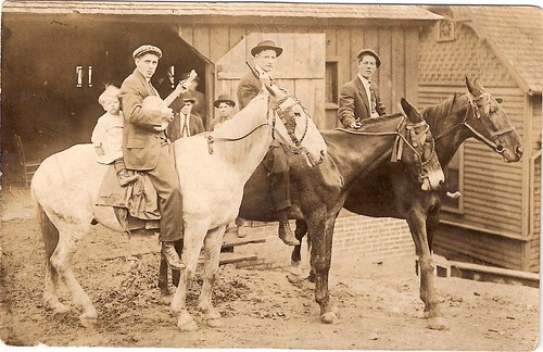 Moser's, Guns, Banjo's, and Mules at the Liverystable in East Tennessee around 1890