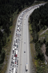 I-90, Labor Day westbound traffic