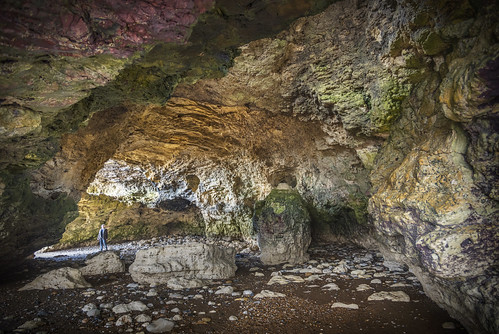 Sea cave at Blackhall Rocks