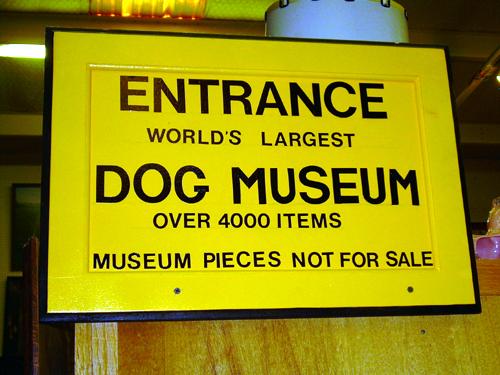 Dog museum entrance