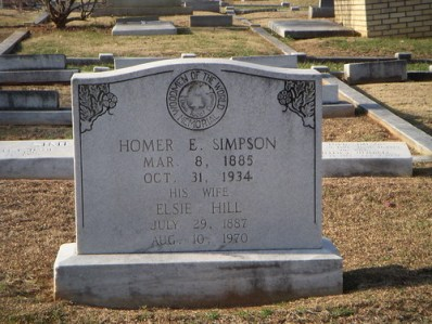 Homer Simpson's Grave