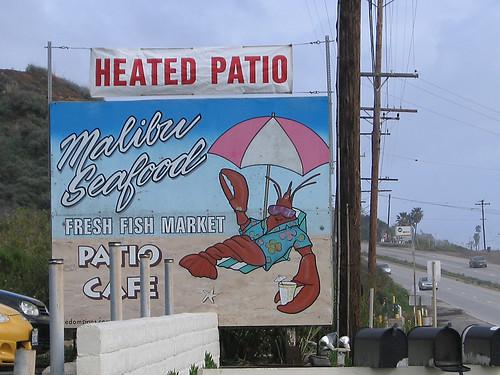 Malibu Seafood Sign