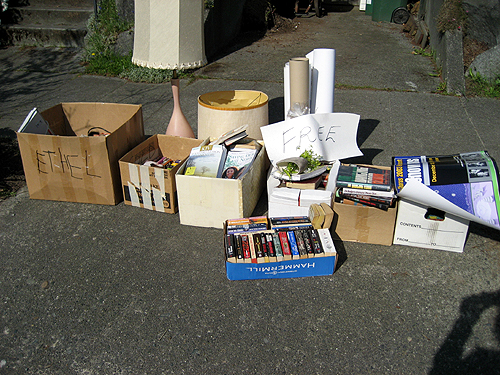 Free yard sale leftovers