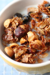 Hazelnut-Coconut-Blackcurrant Granola 2