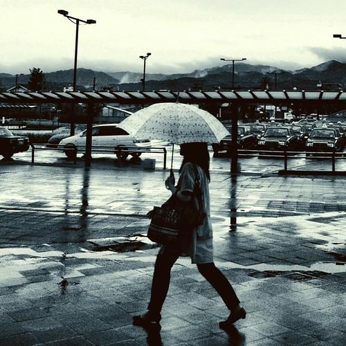 雨降り…。 さぁ、帰ろ! #rainy