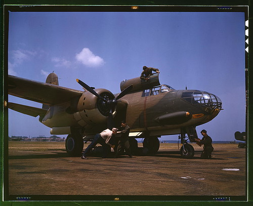 Servicing [an] A-20 bomber, Langley Field, Va. (LOC)